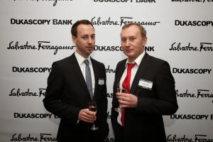 Alan Broyon, CEO, Dukascopy (Left), Andrei Duka, co-Founder, Dukascopy (Right)