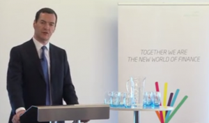 George Osborne, Chancellor of the Exchequer, speaking at Innovation Finance