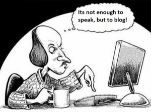 blogging shakespeare