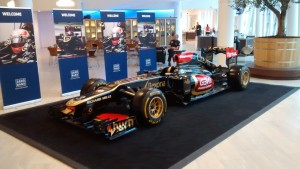 Lotus F1 at Saxo offices in 2014 (Photo credit: Ron Finberg)