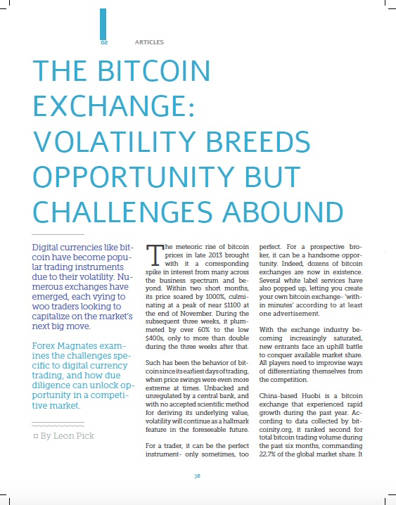 The Bitcoin Exchange: Volatility Breeds Opportunity Despite