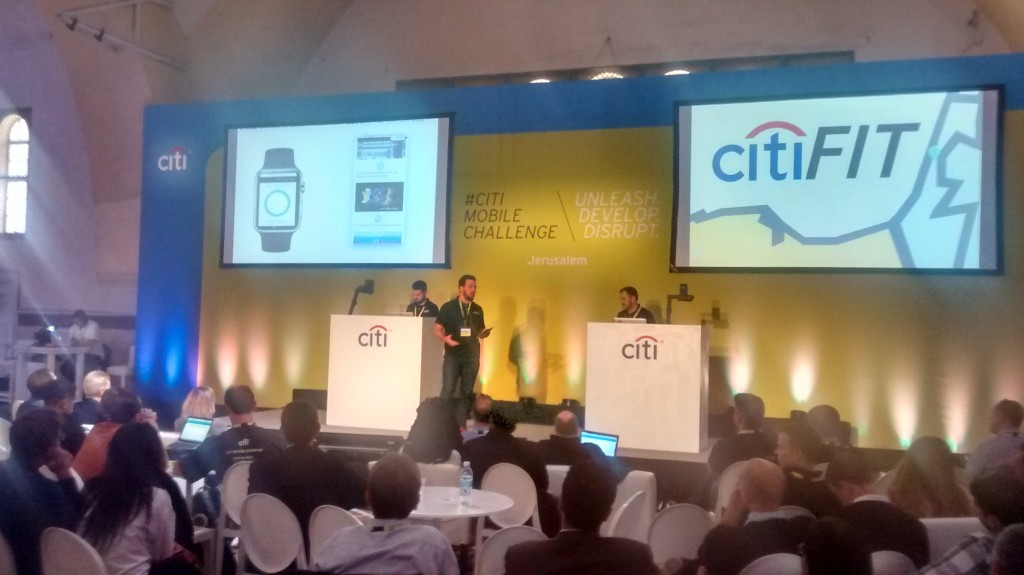 CitiFit Demo at Citi Mobile Challenge Jerusalem