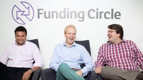 Funding Circle Co-founders from left to right: Samir Desai, James Meekings & Andrew Mullinger