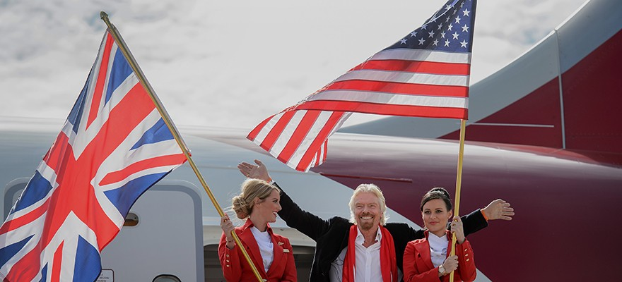 "Sir Richard Branson about ""TEEMING TEAMS"" (Photo: Bloomberg)"