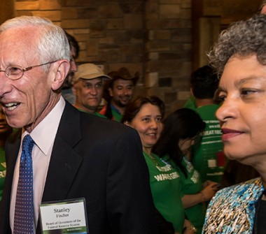 Stanley Fischer, vice chairman of the U.S. Federal Reserve,  arrives for the opening reception and dinner during the Jackson Hole economic symposium, sponsored by the Federal Reserve Bank of Kansas City, at the Jackson Lake Lodge in Moran, Wyoming, U.S., on Thursday, Aug. 27, 2015. (Photo: Bloomberg)
