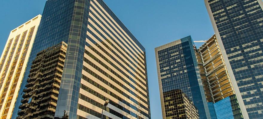 skyscrapers, banks