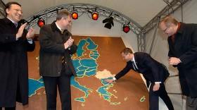Gingerbread map of the European Union, EU