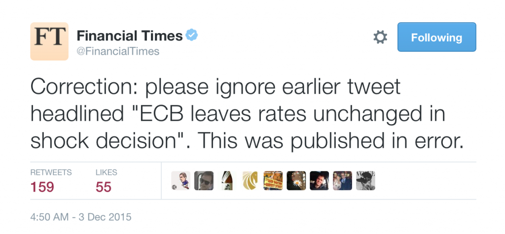 Financial Times, Twitter, euro, ecb