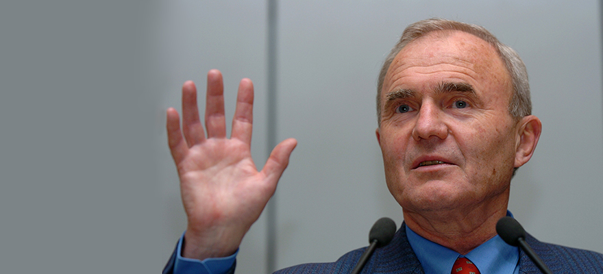"""""""An irreconcilable contradiction"""". Former Chief Economist, ECB, Otmar Issing, Photo: Bloomberg"""